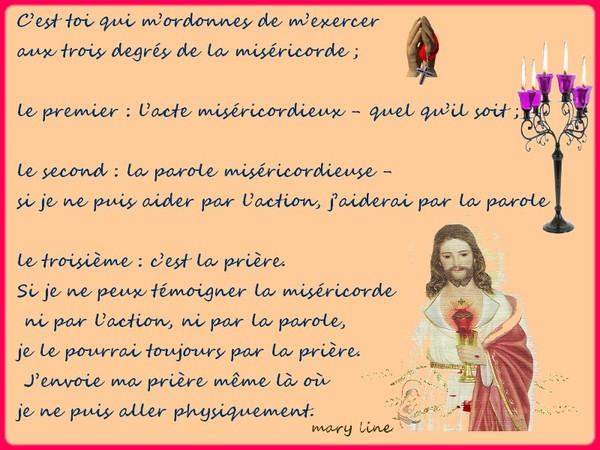 La neuvaine à la divine miséricorde (Ste Faustine)