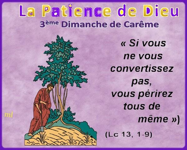 3ème Dimanche de Carême Dieu PATIENT